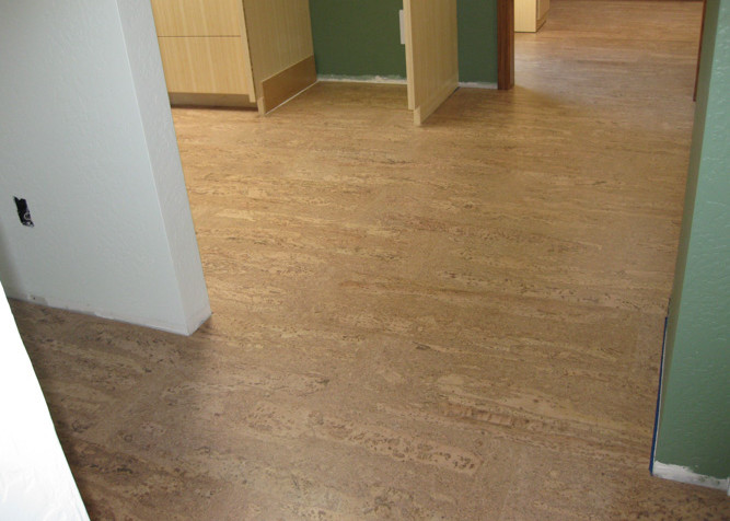 Pre-finished Cork Flooring as floating floor installation