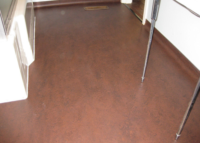 Marmoleum Sheet Flooring with coved installation