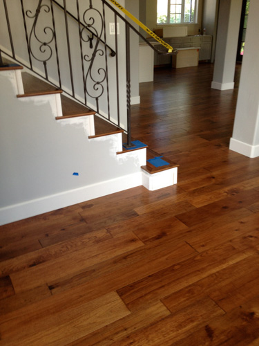 floating wooden floor over tiles wood hickory finished engineered random width flooring installation